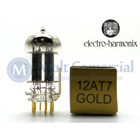 Válvula Duplo Triodo 12AT7EHG ECC81 Electro-Harmonix Gold Pin