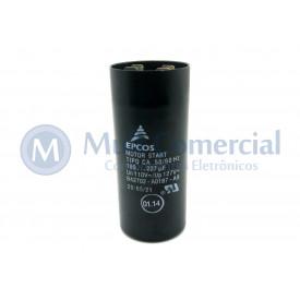Capacitor de Partida 189-227uf 110VCA 50/60Hz B42702 - UL1-10 - Epcos