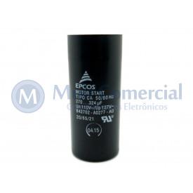 Capacitor de Partida 270-324uf 110VCA 50/60Hz B42702 - UL1-10 - Epcos