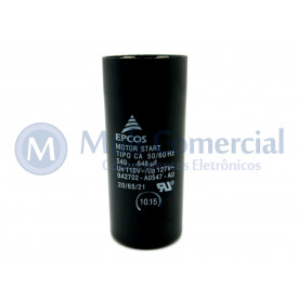 Capacitor de Partida 540-648uf 110VCA 50/60Hz B42702 - UL1-10 - Epcos