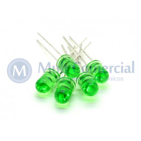 Led 5mm Verde Cristalino L-513GT - Paralight