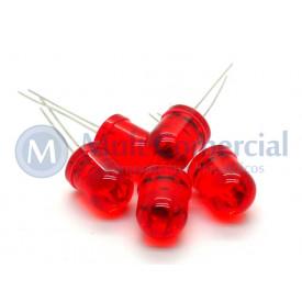 Led 10mm Vermelho Cristalino L-833ET - Paralight