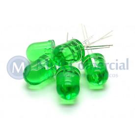 Led 10mm Verde Cristalino L-833GT - Paralight