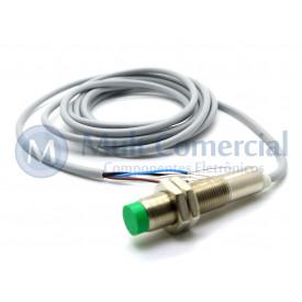 Sensor Indutivo ECL 4-12 DP - M12 - Distância Sensora 4mm PNP - NA+NF - 10 á 30Vdc - Sensor Bras