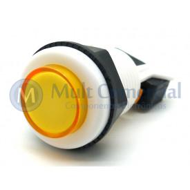 Chave Push-Button PBS-29 Utilizada em Arcades Fliperamas - Amarelo