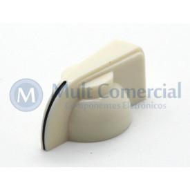 Knob Cabeça de Galinha Para Potenciômetro de Eixo estriado K7-1-18T - Branco