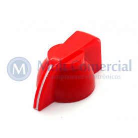 Knob Cabeça de Galinha K7-1-18T  - Cód KNCHSS - Vermelho