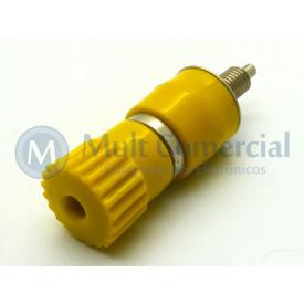 Borne B06 para Pino Banana de 4mm - Amarelo - B.B.C
