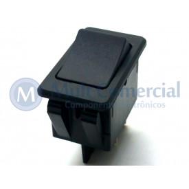 Interruptor de Tecla Plástica Bipolar ASW-17-201 35A 12V  LIGA/DESLIGA