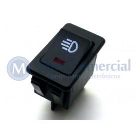 Interruptor de Tecla Plástica Com Led Bipolar ASW-17D 35A 12V  LIGA/DESLIGA