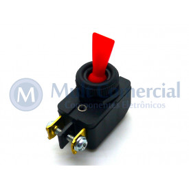Interruptor de Alavanca Unipolar 6A JL25023 - CS-301D - Vermelho