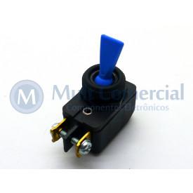 Interruptor de Alavanca Unipolar 6A JL25023 - CS-301D - Azul