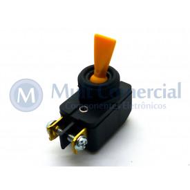 Interruptor de Alavanca Unipolar 6A JL25023 - CS-301D - Amarelo
