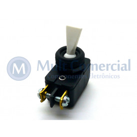 Interruptor de Alavanca Unipolar 6A JL25023 - CS-301D - Branco
