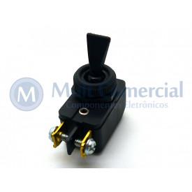 Interruptor de Alavanca Unipolar 6A JL25023 - CS-301D - Preto