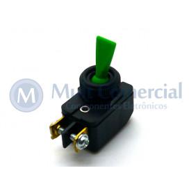 Interruptor de Alavanca Unipolar 6A JL25023 - CS-301D - Verde