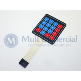 Teclado Matricial de membrana 4X4 16 Teclas Compatível com Arduino - GC-09