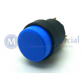 Interruptor Push button 1A - CS-392 - Azul - Margirius