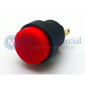 Interruptor Push button 1A - CS-392 - Vermelho - Margirius