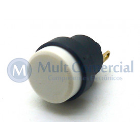 Interruptor Push button 1A - CS-392 - Branco - Margirius