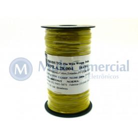 Fio Wire Wrap 28AWG Amarelo Rolo com 300 Metros - Almak
