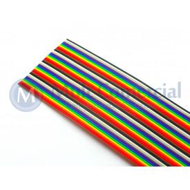 Flat Cable Colorido 28AWG  34 Vias DS1058-34M28 - Rolo com 30 Metros