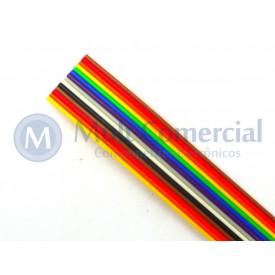 Flat Cable Colorido 28AWG  14 Vias DS-1058-14M28 - Rolo com 30 Metros