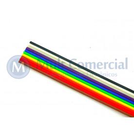 Flat Cable Colorido 28AWG  10 Vias DS-1058-10M28 - Rolo com 30 Metros