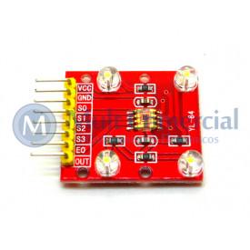 Módulo de Reconhecimento de Cores TCS3200 Compatível com Arduino - GC-52