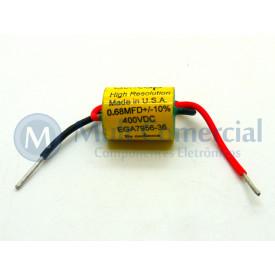 Capacitor de Polipropileno Metalizado 680KPF/400V Axial - Auricap