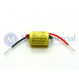 Capacitor de Polipropileno Metalizado 1KPF/450V Axial - Auricap