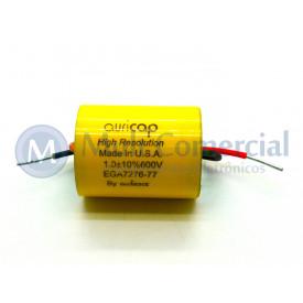 Capacitor de Polipropileno Metalizado 1uF/600V ( Axial - Auricap)