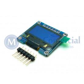 Display OLED 128X64 0.96 Polegadas I2C Azul e Amarelo Compatível com Arduino - GC-87