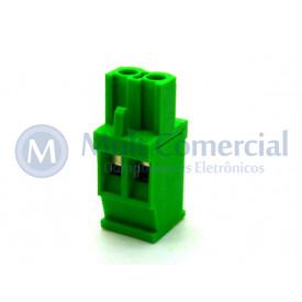 Conector Verde Multipolar AKZ1100-02 Macho de 02 vias - Passo 5.08mm - Phoenix Mecano
