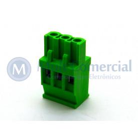 Conector Verde Multipolar AKZ1100-03 Macho de 03 vias - Passo 5.08mm - Phoenix Mecano