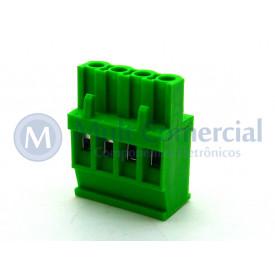 Conector Verde Multipolar AKZ1100-04 Macho de 04 vias - Passo 5.08mm - Phoenix Mecano
