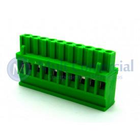 Conector Verde Multipolar AKZ1100-10 Macho de 10 vias - Passo 5.08mm - Phoenix Mecano