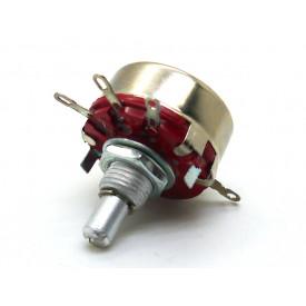 Potenciômetro 23mm 2 Watt 10K eixo metálico sem chave - WTH (118)