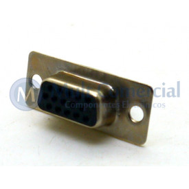 Conector DB15 Fêmea Solda Fio VGA DS1035-15FBNSISS - Connfly