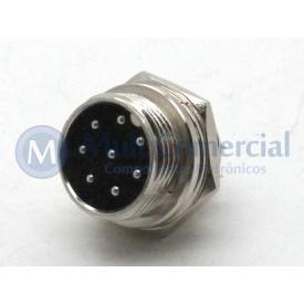 Conector Mike 8 Vias Macho JL33054-8P - Jiali