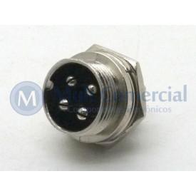 Conector Mike 4 Vias Macho JL33054-4P - Jiali