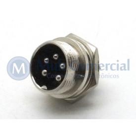 Conector Mike 5 Vias Macho JL33054-5P - Jiali
