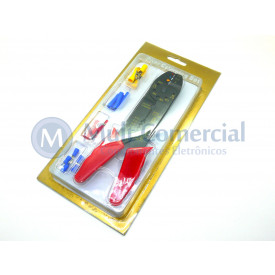 Kit para Crimpar conectores Faston - AT651