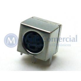 Conector Mini Din Fêmea PCI DS1093-03BN4-0 - 4 Pinos - Jiali