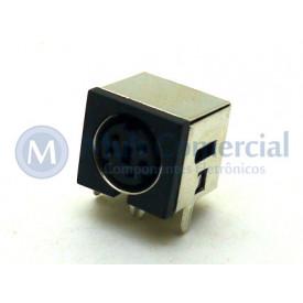 Conector Mini Din Fêmea PCI DS1093-03BN5-0 - 5 Pinos - Jiali