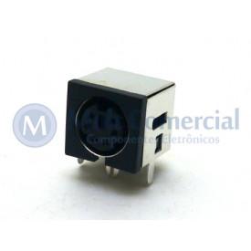 Conector Mini Din Fêmea PCI DS1093-03BN6-0 - 6 Pinos - Jiali