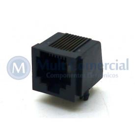 Conector RJ45 DS-1134-02S80BPS 8P8C Com 08 Vias