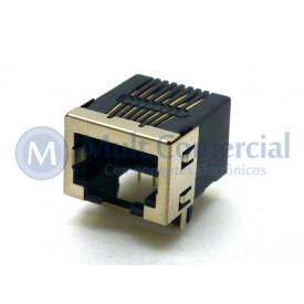 Conector JACK RJ45 DS1125-S80BP 8P8C Com 08 Vias