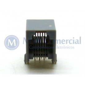 Conector JACK RJ12 DS1133-S-6P6C Com 06 Vias