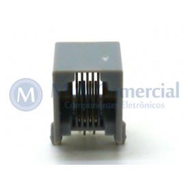 Conector JACK RJ11 DS1133-S-6P4C Com 04 Vias